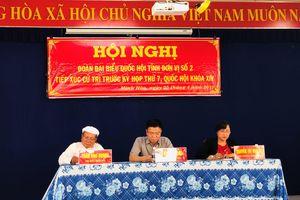 Bộ trưởng Lê Thành Long giải đáp nhiều vấn đề cử tri Minh Hòa quan tâm