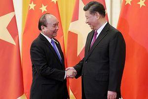 Thủ tướng hội kiến Tổng Bí thư, Chủ tịch Trung Quốc Tập Cận Bình tại Bắc Kinh