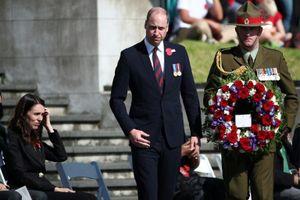 Hoàng tử Anh William tham dự lễ kỷ niệm Anzac Day tại New Zealand