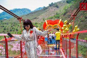 Hàng trăm du khách hào hứng tham quan cầu kính đầu tiên tại Việt Nam
