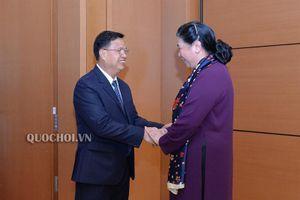 Phó Chủ tịch Thường trực Quốc hội Tòng Thị phóng hội đàm với Phó Chủ tịch Quốc hội Lào
