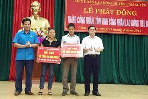 Hà Tĩnh: Trao hàng trăm suất quà tại lễ phát động Tháng Công nhân