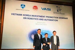 Việt Nam - Hàn Quốc hợp tác phát triển ngành công nghiệp rô-bốt, tự động hóa