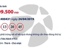 Kết quả Mega 6/45 Vietlott hôm nay (26/4/2019): Sắp tìm được người trúng hơn 15 tỉ đồng?