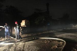 Cháy kho sấy gỗ của xí nghiệp lâm đặc sản, thiệt hại hàng tỷ đồng