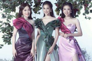 Tiểu Vy - Phương Nga - Thúy An: Bộ 3 nữ hoàng 'thăng hạng' nhan sắc sau nửa năm đăng quang