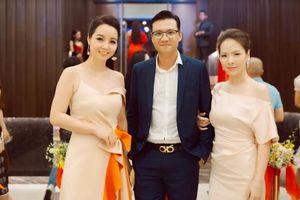Đan Lê tháp tùng chồng dự tiệc từ thiện cùng các nghệ sĩ Hàn Quốc