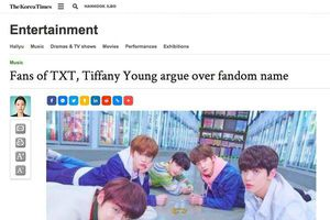 Tờ báo tiếng Anh lâu đời nhất Hàn Quốc đưa tin về lùm xùm trùng tên fandom của TXT: Bighit vẫn 'biệt vô âm tín'