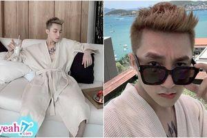 Sơn Tùng M-TP diện áo ngủ 'hờ hững', thoải mái tận hưởng kì nghỉ lễ của mình