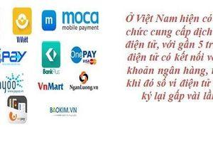 Quản lý ví điện tử: Doanh nghiệp cung ứng phải... nhận biết khách hàng