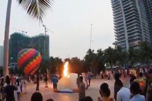 Cháy khinh khí cầu trên biển Đà Nẵng
