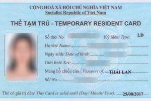 Người nước ngoài sử dụng thẻ tạm trú quá hạn bị xử lý thế nào?