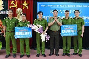 Thanh Hóa: Trao thưởng cho nhiều chuyên án lớn của Công an
