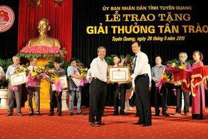 Tuyên Quang: Công bố danh sách các tác giả, nhóm tác giả đề nghị xét tặng 'Giải thưởng Tân Trào' lần thứ 3