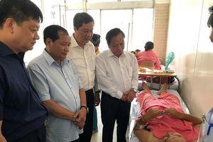 Lãnh đạo TP Cần Thơ thăm Đại úy bị đâm phải cắt bỏ thận