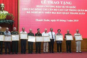 Quận Thanh Xuân: 165 cán bộ được tặng Huân chương Bảo vệ Tổ quốc