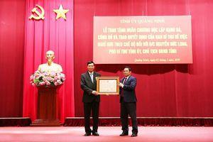 Chủ tịch Ủy ban nhân dân tỉnh Quảng Ninh nhận Huân chương Độc Lập hạng Ba