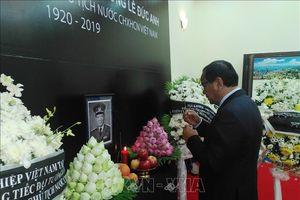 Lễ Quốc tang nguyên Chủ tịch nước, Đại tướng Lê Đức Anh tại Campuchia