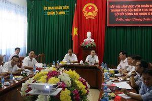 Cần Thơ: Khảo sát, họp bàn giải pháp xử lý sạt lở bờ sông Ô Môn