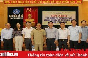Đoàn ĐBQH tỉnh tiếp xúc cử tri tại Bệnh viện Đa khoa tỉnh và Bảo hiểm xã hội tỉnh