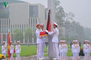 Cờ rủ Quốc tang nguyên Chủ tịch nước Lê Đức Anh tại Ba Đình