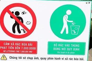 Ghi hình, phạt người xả rác ở phố đi bộ thế nào?