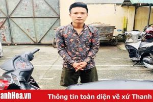 Công an TP Thanh Hóa bắt đối tượng gây ra hàng chục vụ cướp giật dây chuyền vàng