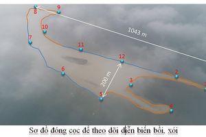 'Đảo cát' lạ giữa biển Cửa Đại biến đổi phức tạp