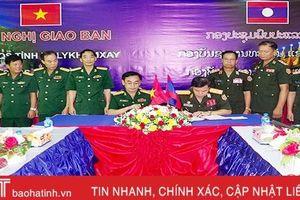 Hà Tĩnh, Bôlykhămxay ký kết thực hiện nhiệm vụ quân sự - quốc phòng