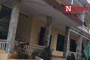 Hai học sinh nhập viện vì bị cột bê tông rơi xuống sân trường