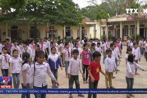 Học sinh Trường TH Đồng Lương đã trở lại trường học bình thường