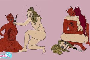 Tranh siêu thực của Polly Nor - Nghệ thuật kinh dị và điên loạn núp bóng nỗi khổ tình yêu