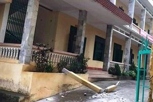 Học sinh bị thanh bê tông rơi trúng đầu ở Hòa Bình đã tử vong
