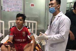Cầu thủ bị bất tỉnh ở trận B.Bình Dương - Hà Nội đã được xuất viện