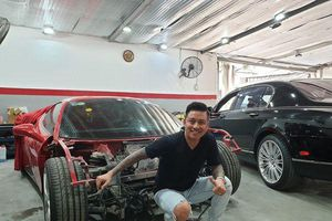 Siêu xe Ferrari 488 GTB của ca sĩ Tuấn Hưng chuẩn bị tái xuất sau gần nửa năm gặp nạn