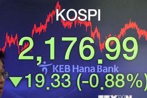 Chứng khoán châu Á chịu tác động theo đà giảm của thị trường Mỹ