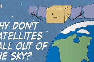 Vì sao vệ tinh không rơi khỏi bầu trời?