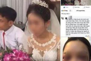 Sự thật về bức ảnh được cho là cô dâu bị đánh thâm mắt vì cự tuyệt hôn chú rể trong đám cưới