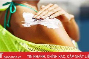 Hóa chất từ kem chống nắng có thể thấm vào máu