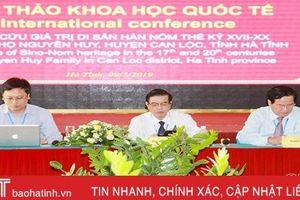 Hội thảo khoa học quốc tế nghiên cứu giá trị di sản Hán Nôm dòng họ Nguyễn Huy ở Can Lộc