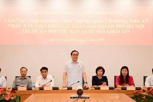 Đoàn đại biểu Quốc hội TP Hà Nội làm việc với các cơ quan trước kỳ họp thứ bảy