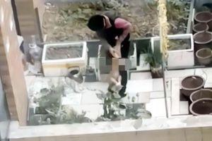 Bé trai 4 tuổi bị lột quần áo, trói tay, dốc ngược đầu xuống đất