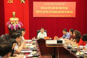 Đoàn Đại biểu Quốc hội tỉnh làm việc với Sở GD&ĐT Yên Bái