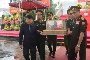An táng 7 hài cốt liệt sỹ hy sinh ở Lào