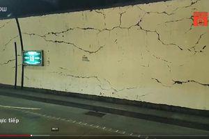 Xuất hiện nhiều vết nứt mới tại hầm Hải Vân 1