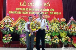 Nghệ An bổ nhiệm Hiệu trưởng Trường Cao đẳng Việt - Đức
