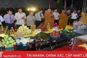 Hà Tĩnh tổ chức đại lễ cầu siêu tại Nghĩa trang Liệt sỹ quốc gia Nầm