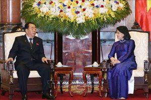 Phó Chủ tịch nước Đặng Thị Ngọc Thịnh tiếp Đoàn đại biểu cấp cao Tòa án Trung ương Triều Tiên