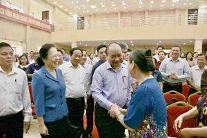 Thủ tướng Nguyễn Xuân Phúc tiếp xúc cử tri tại huyện Kiến Thụy