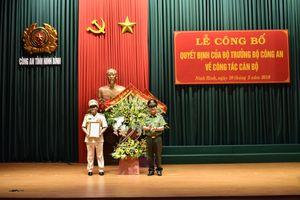 Công bố quyết định bổ nhiệm Giám đốc Công an tỉnh Ninh Bình